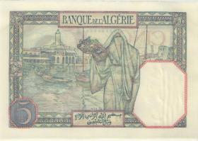 Algerien / Algeria P.077a 5 Francs 29.7.1933 (1)