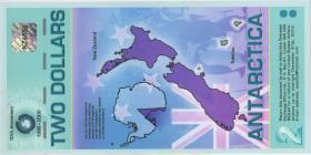 Antarctica 2 Dollars 2007 Polymer (1)