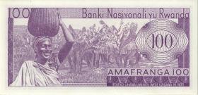 Ruanda / Rwanda P.08r 100 Francs 1976 ZZ (1) replacement