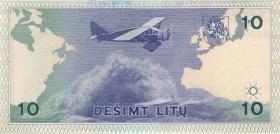 Litauen / Lithuania P.56a 10 Litu 1993 Serie KAA (1993) (1)