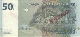Kongo / Congo P.089s 50 Francs 1997 (1) Specimen