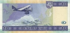 Litauen / Lithuania P.65 10 Litu 2001 (2)