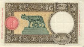 Italien / Italy P.057 50 Lire 19.8.1941 (3+)