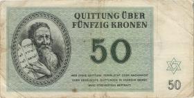 Get-13 Getto Theresienstadt 50 Krone 1943 (4-)