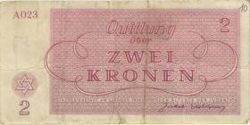 Get-09 Getto Theresienstadt 2 Krone 1943 (3-)