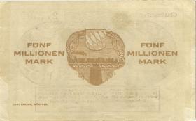 PS1102 Reichsbahn München 5 Millionenn Mark 1923 (3)
