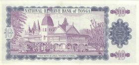 Tonga P.28 10 Pa´anga (1992-95) (1) low number