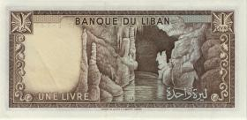 Libanon / Lebanon P.61b 1 Livre 1973 (2)