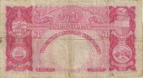 British Caribbean Territories P.07c 1 Dollar 1964 (3-)