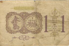 Frankreich / France 1 Francs 1919 (3-)