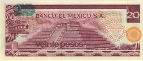 Mexiko / Mexico P.064d 20 Pesos 1977 (1)