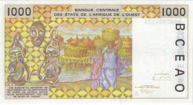 West-Afr.Staaten/West African States P.111Ae 1000 Francs 1995 (1)