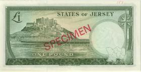 Jersey P.08bs 1 Pound (1963) Specimen (1)