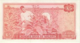 Malawi P.15d 5 Kwacha 1981 (1)