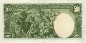 Uruguay P.44 500 Pesos L. (1967) (2+)