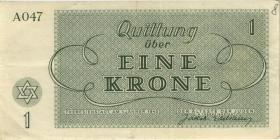 Get-08 Getto Theresienstadt 1 Krone 1943 (3+)