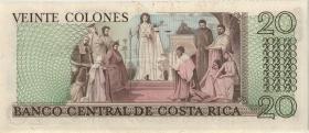 Costa Rica P.238b 20 Colones 1978-1982 (1)