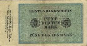 R.156b: 5 Rentenmark 1923 (3)