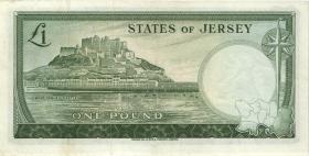 Jersey P.08a 1 Pound (1963) Serie A (2)