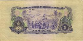 Südvietnam / Viet Nam South P.042a 5 Dong 1966 (1975) (3)