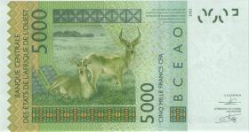 West Afrikanische Staaten / West African States P.717Kk 5.000 Francs 2012 (1)