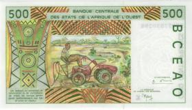 West-Afr.Staaten/West African States P.710Kj 500 Francs 1999 (1)