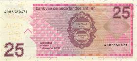Niederl. Antillen / Netherlands Antilles P.29c 25 Gulden 2003 (1)