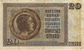 Jugoslawien / Yugoslavia P.030 20 Dinara 1936 (3)