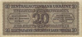 R.595a1: Besetzung Ukraine 20 Karbowanez 1942 (1)