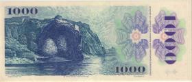 Tschechoslowakei / Czechoslovakia P.098 1000 Kronen 1985 (2+)
