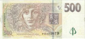 Tschechien / Czech Republic P.24b 500 Kronen 2009 F (1)