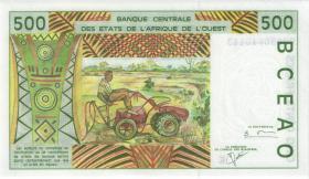 West-Afr.Staaten/West African States P.710Kk 500 Francs 2000 (1)