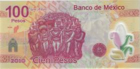 Mexiko / Mexico P. 128b 100 Pesos 2009 Polymer (1)