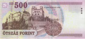 Ungarn / Hungary P.196b 500 Forint 2008 (1)
