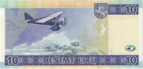 Litauen / Lithuania P.65 10 Litu 2001 (1) low number
