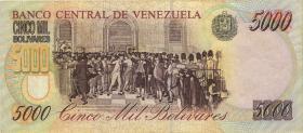 Venezuela P.078a 5000 Bolivares 1997 (3+)