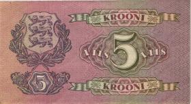 Estland / Estonia P.62a 5 Kronen 1929 (2)