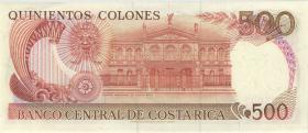 Costa Rica P.255b 500 Colones 1989 (1)