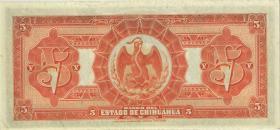 Mexiko / Mexico P.S132a 5 Pesos 1913 (1)