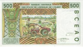 West-Afr.Staaten/West African States P.110Ae 500 Francs 1995 (1)