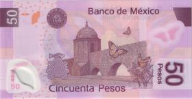 Mexiko / Mexico P. 123l 50 Pesos 28.10.2008 Polymer (1)