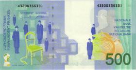 Belgien / Belgium P.149 500 Francs (1998) (2)