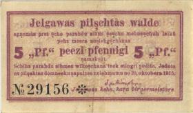 Lettland / Latvia LE 33: 5 Pfennig 1915 Mitau (2)