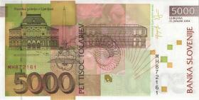 Slowenien / Slovenia P.33a 5000 Tolarjew 2004 (1)