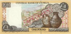 Zypern / Cyprus P.60s 1 Pfund 1.10.1997 Specimen (1)