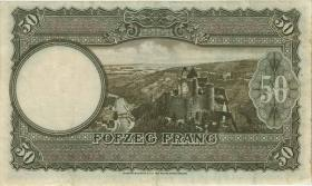 Luxemburg / Luxembourg P.46 50 Francs (1944) (3)