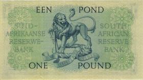 Südafrika / South Africa P.092d 1 Pound 4.11.1958 (Englisch) (3+)