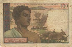 Madagaskar P.46 100 Francs (1950-51) (4)