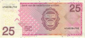 Niederl. Antillen / Netherlands Antilles P.29g 25 Gulden 2012 (1)