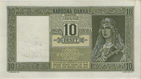 Jugoslawien / Yugoslavia P.R10 10 Dinara 1939 (1941) (1/1-)